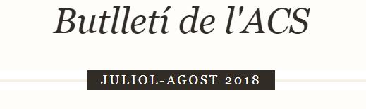 Butlletí juliol-agost 2018