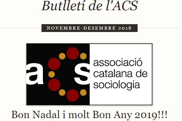 Butlletí de Novembre – Desembre de 2018