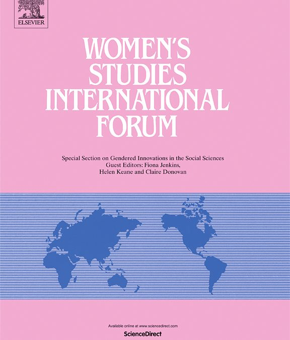 L'article. Intimate partner violence in female-headed one-parent households: generating data on prevalence, consequences and support, de Núria Vergés, Anna Moreno, Joaquina Erviti i Elisabet Almeda, publicat a Women's Studies International Forum